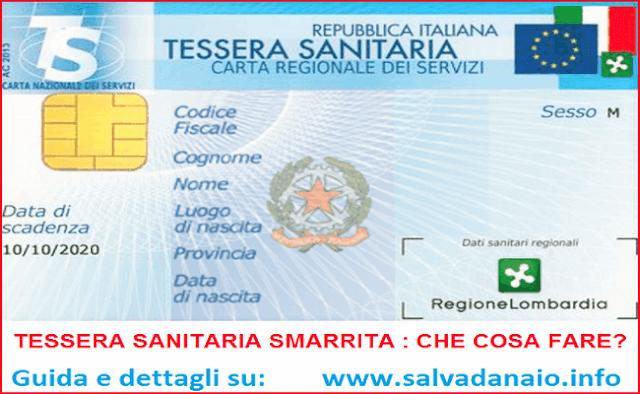 tessera_sanitaria_smarrita_duplicato