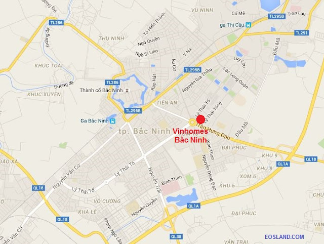 Vị trí Vinhomes Bắc Ninh