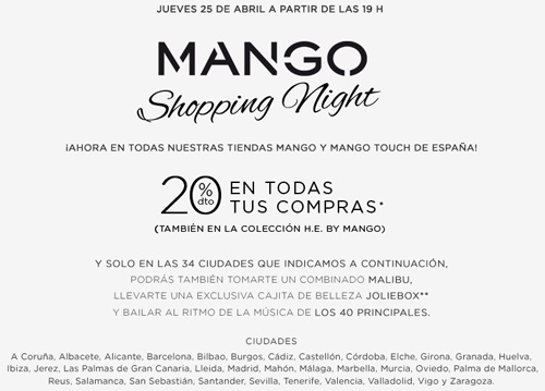 Mango shopping night