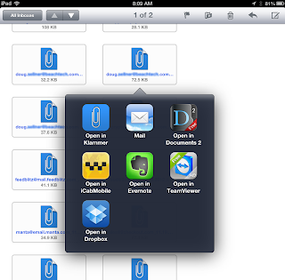 Image shows Klammer icon in IOS.