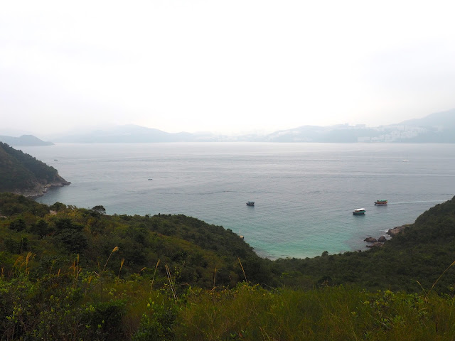 Ocean view on the hiking trail on Sharp Island, Hong Kong