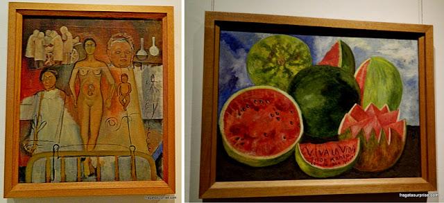 """Obras de Frida Kahlo: """"Frida e a Cesariana"""" e """"Viva la Vida"""""""