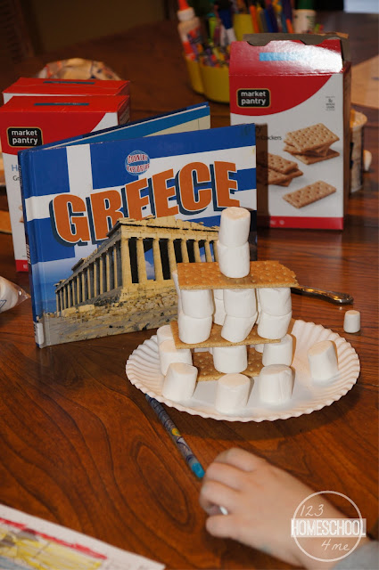 Greece Parthenon Craft for Kids