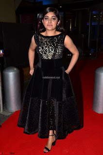 Niveda Thomas Black Sleeveless Cute Dress at 64th Jio Filmfare Awards South 2017 ~  Exclusive 056.JPG