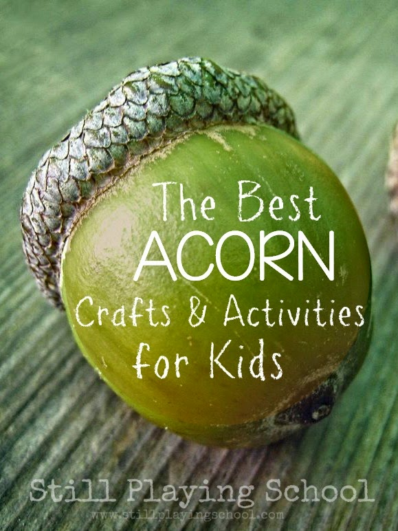 The perfect acorn crafts and activities for kids during fall!