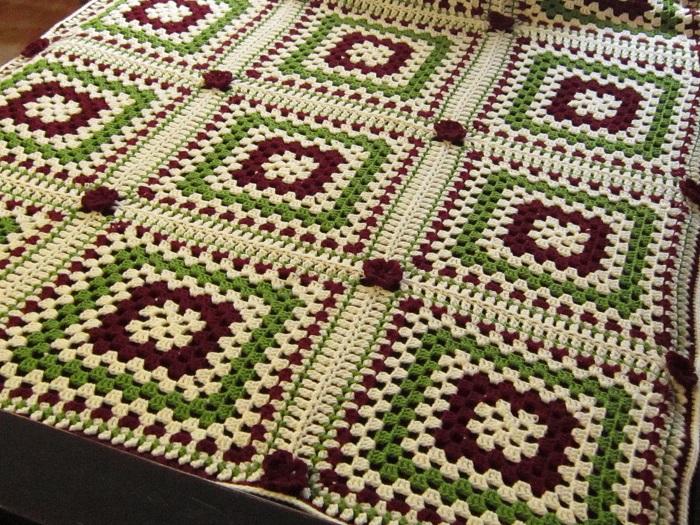 crochet, afghan, Mom's Afghan