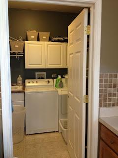 Laundry Room Makeover Update Install Sliding Door