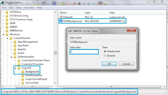 Set Background Image At Logon Screen