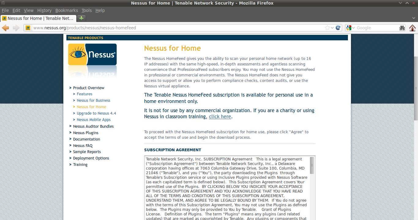 Installing Nessus | Information Security Berserker