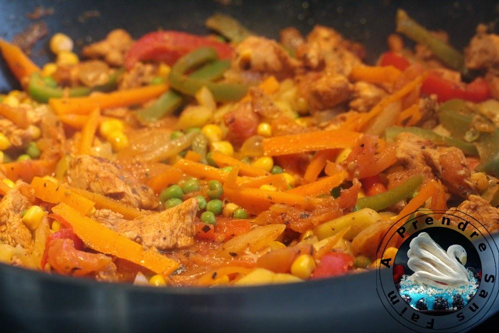 Fajitas mexicaines au poulet