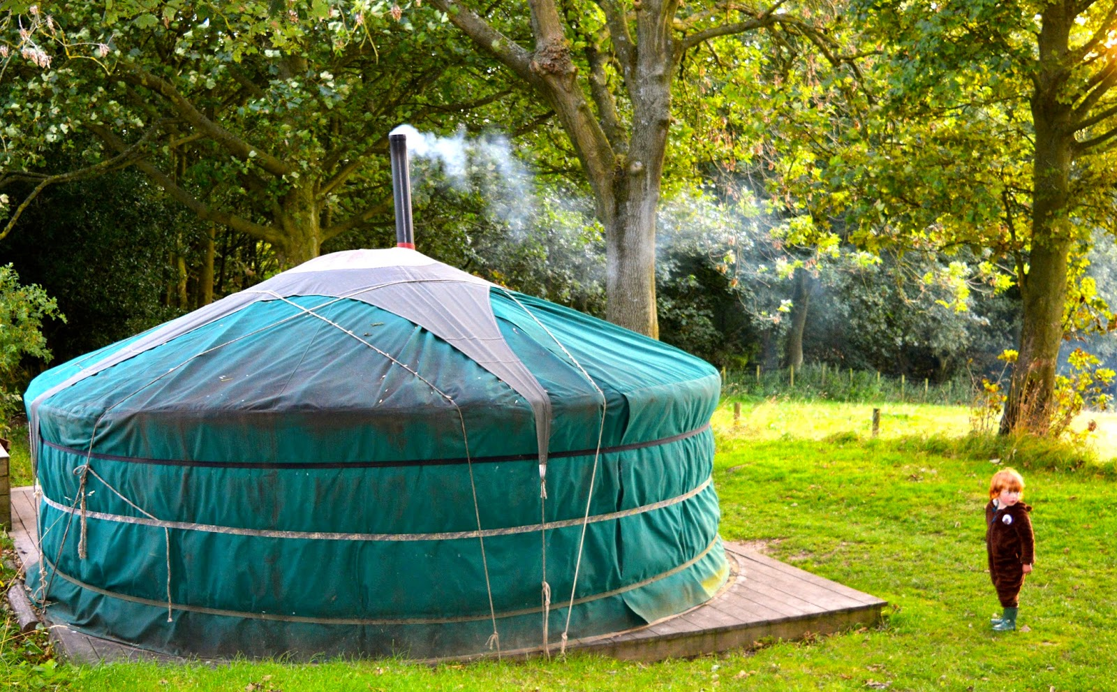 Westwood Yurts | Glamping at National Trust Gibside, County Durham - A Review - yurt exterior