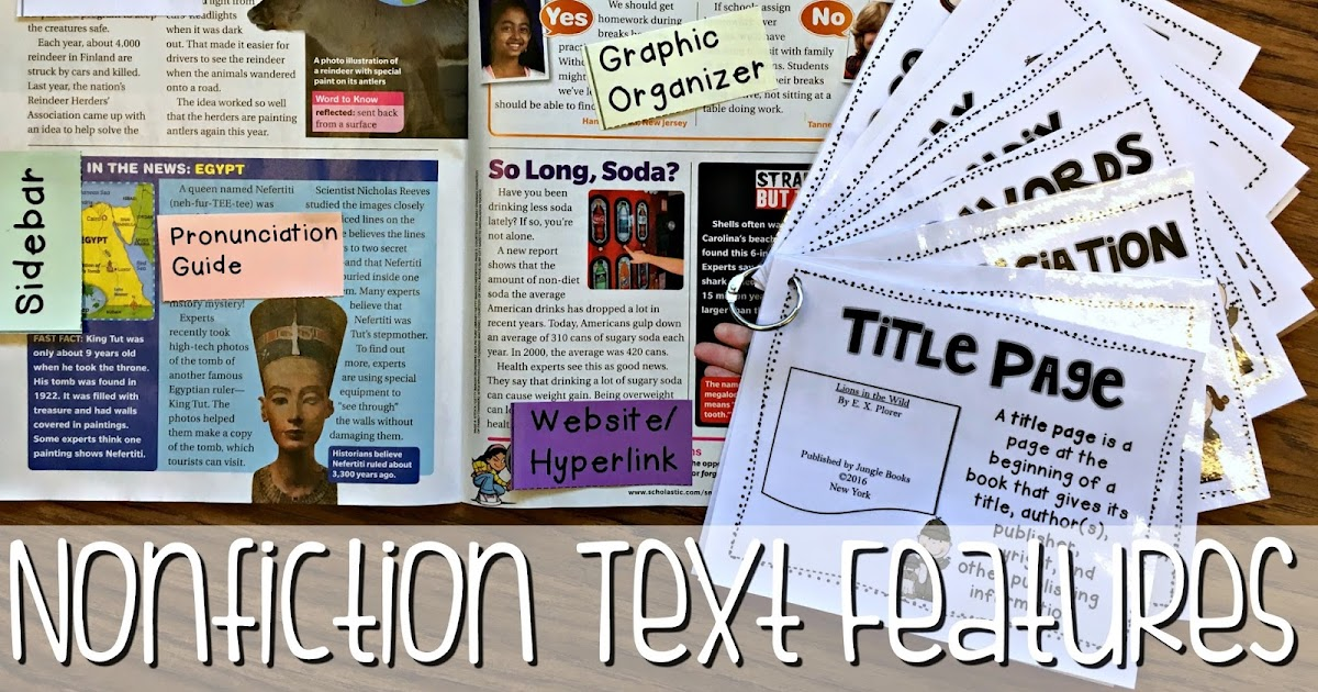The First Few Days of Teaching Nonfiction Text Features 3rd – Text Features Worksheet 3rd Grade
