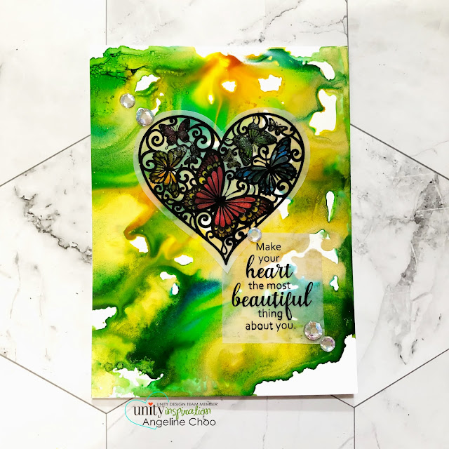 ScrappyScrappy: Beautiful Crooked Path #scrappyscrappy #unitystampco #cardmaking #card #stamp #stamping #youtube #quicktipvideo #ginakdesigns #rangeralcoholink #spectrumnoirsparkle #alcoholink #stainedglass