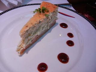 Sesame-Flavored Shrimp and Caramelized Onion Cheesecake With Asian Barbecue Sauce- Disney Cruise Line