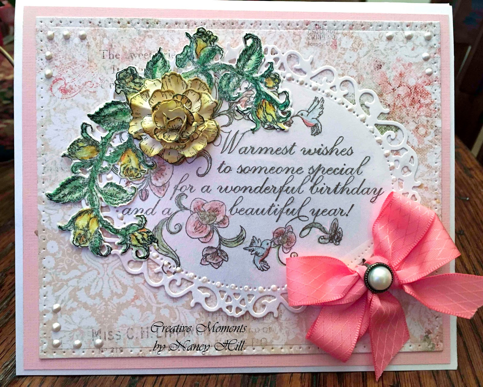 I Made This Card Using The Gorgeous Heartfelt Creations Blushing Rose Classic And Beautiful Botanical Orchid