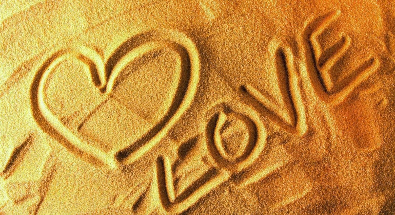 Amor Escrito En Arena: Amor Escrito En La Arena Playa
