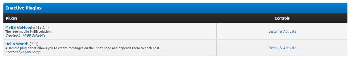 GoMobile Installed On Mybb 1.8.4