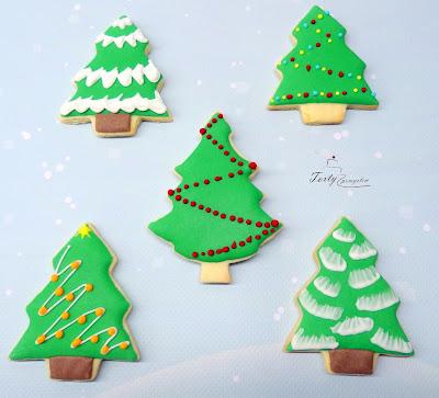 ciasteczka choinki świąteczne