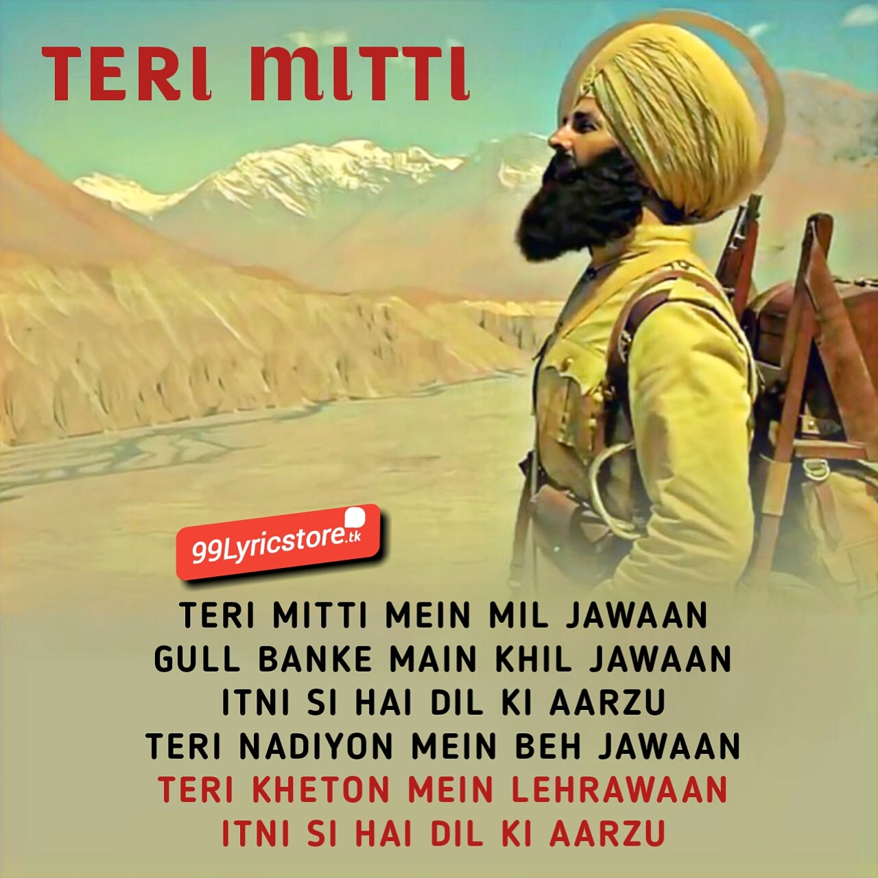 Teri mitti Kesari Lyrics b Praak Arko Akshay Kumar & Parineeti Chopara