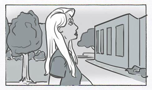 Robot Space Ninja College Commercial storyboards - commercial storyboards