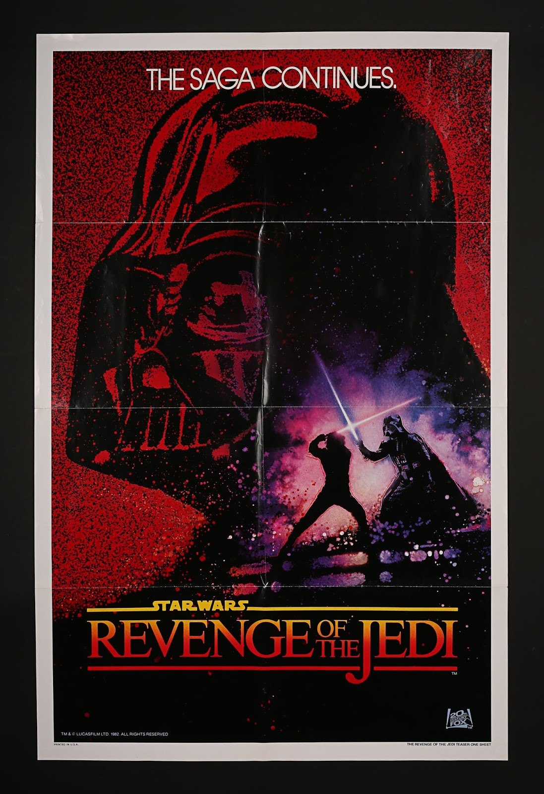 revenge of the jedi quad poster