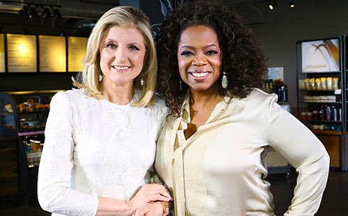 Oprah and Arianna Huffington