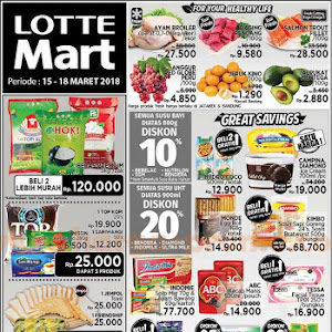 Katalog Promo Lottemart Hypermarket Weekend 15 - 18 Maret 2018