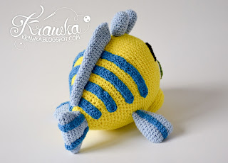 Krawka: Flounder fish pattern by Krawka, Disney Little mermaid cute flounder fish