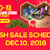 Lazada 12.12 Flash Sale Schedule - December 10, 2018