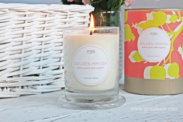 KOBO Candles/GOLDEN MIMOSA-www.gronskaya.com