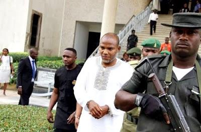 Shocking!!! Nnamdi Kanu Angrily Rants In Abuja Court… Says Buhari Is Mad, He Cannot Jail Me!