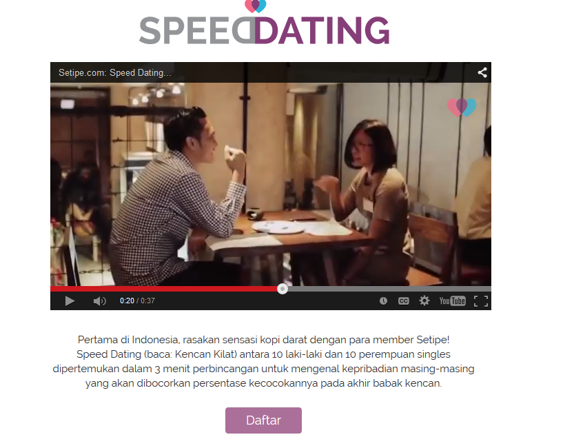 Pertemukan Member di Speed Dating
