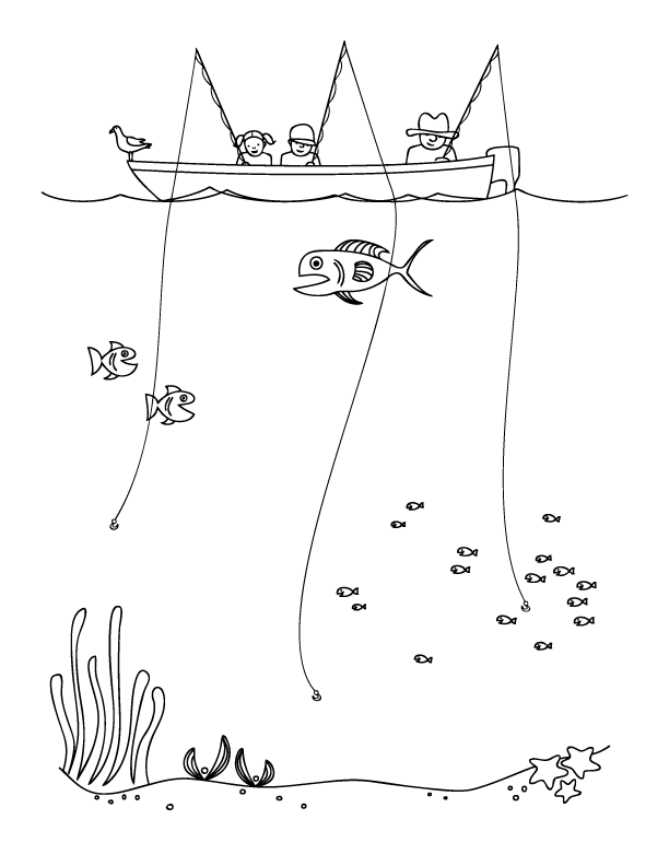 early play templates: Father's Day clip art: Fishing Father