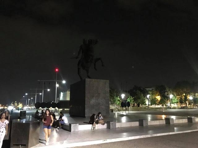 Σταμάτησαν να φωταγωγούν το Άγαλμα του Μεγάλου Αλεξάνδρου κατ' εντολή του Μπουτάρη !