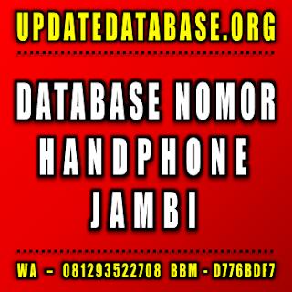 Jual Database Nomor Handphone Jambi