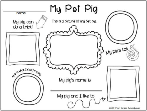 First Grade Schoolhouse: Pigs: Learning, Reading, and