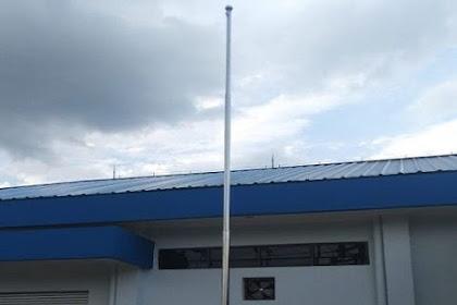 Tiang Bendera Stainless pesanan PT SMK untuk Gardu Induk Sinar Sahabat di Cicurug Tangerang Banten