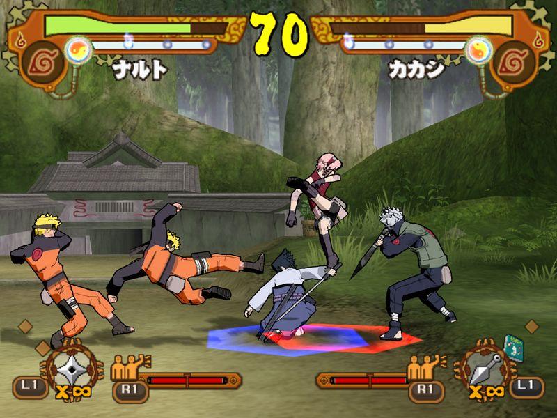 Naruto Shippuden Ultimate Ninja 5 Sakura Sasuke Kakashi