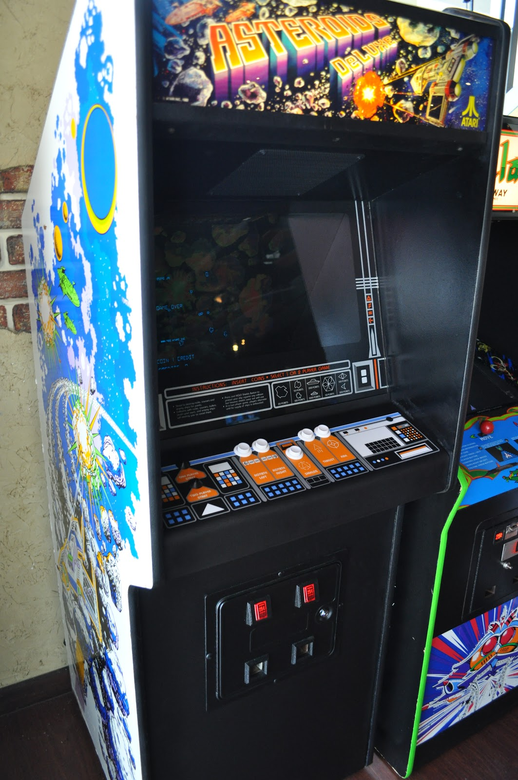 Spaceport Arcade Asteroids Deluxe Finished