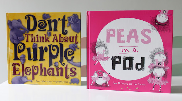 Two children's books - don't think about purple elephants and peas in a pod