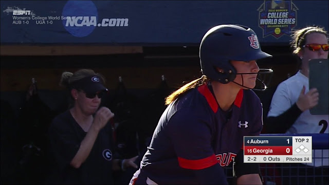 Auburn's Haley Fagan at bat in Oklahoma City at the WCWS