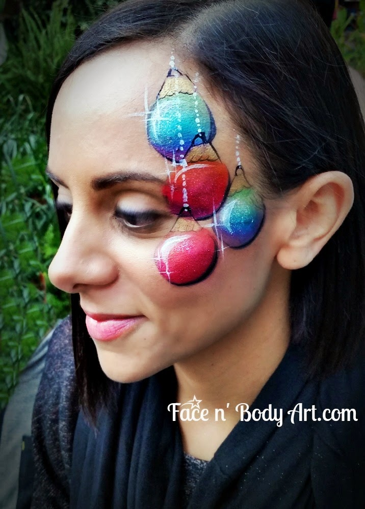 Christmas Face Painting Ideas.Shawna D Make Up Christmas Face Painting Designs