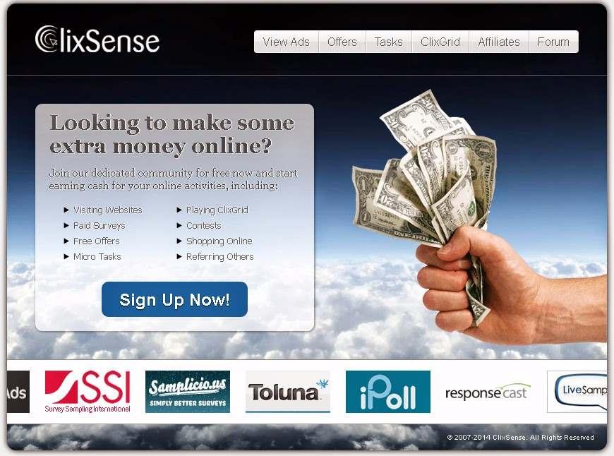 ClixSense - film - zarabianie przez Internet