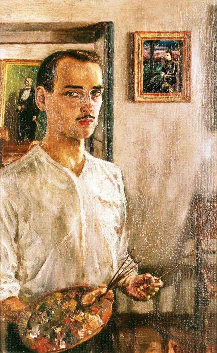 Enrique Vidal Abascal, Pintor español, Retratos de  Enrique Vidal Abascal, Pintores Realistas Españoles, Galería de retratos figurativos, Autorretrato de  Enrique Vidal Abascal