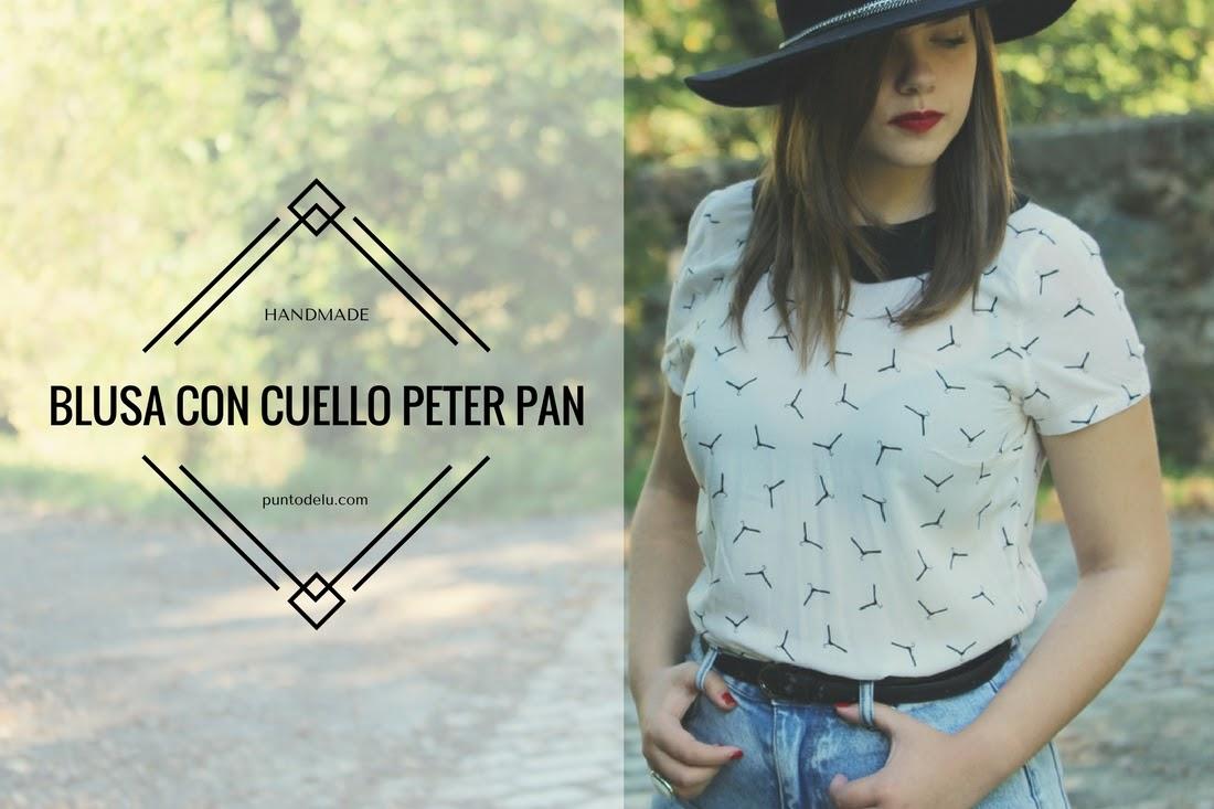 Blusa con cuello Peter Pan Punto de Lu