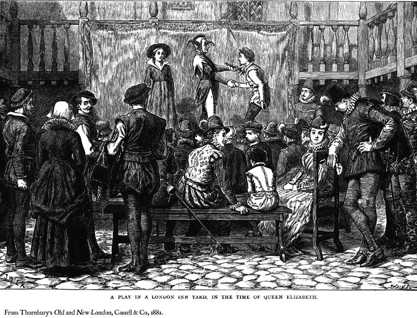 Term 4 - Shakespeare: What were the theatres or 'playhouses' of  Shakespeare's time like and how were plays staged in them?
