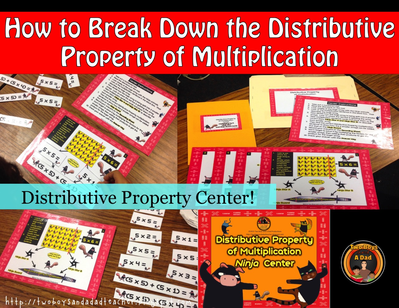 distributive property of multiplication how to break it down two
