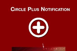 circle plus notification icon