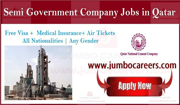 Semi Government Qatar National Cements Jobs and Careers 2019