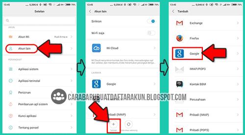 cara buat email baru lewat hp